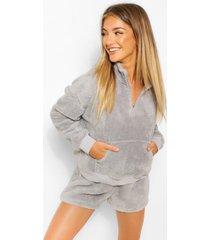 mix & match fleece shorts, grey