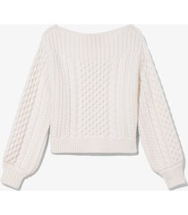 proenza schouler white label chunky cableknit sweater /white l