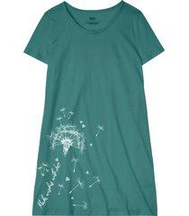 camicia da notte in cotone biologico (petrolio) - bpc bonprix collection