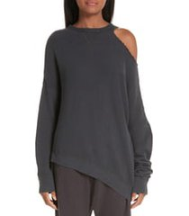 women's r13 distorted sweatshirt, size small - black