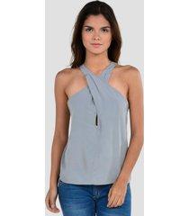 blusa sin mangas de mujer exotik ew172-1102-843 gris