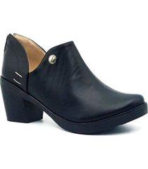 zapato  botin zavatty negro para mujer, modelo ta5247