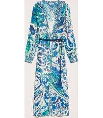 twin-set jurk beige blauw