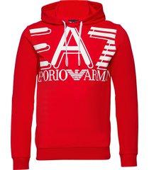 sweatshirt hoodie röd ea7
