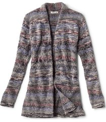 alpaca-blend blanket cardigan sweater