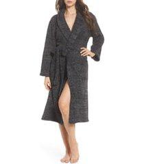 women's barefoot dreams cozychic unisex robe, size 2 - black