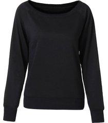 pure color long sleeve sweatshirt for women