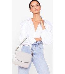 womens want don't croc dancin' shoulder bag - grey