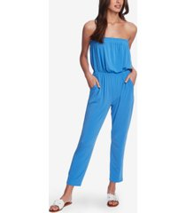 1.state strapless cinched-waist jumpsuit
