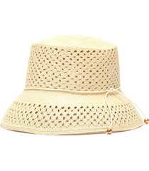 calado lamp shade toquilla straw hat