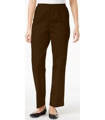alfred dunner classics twill pull-on pants