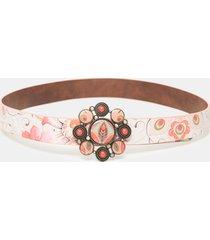 reversible belt flowers - red - 95
