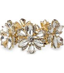 statement beautiful stretch floral stone bracelet