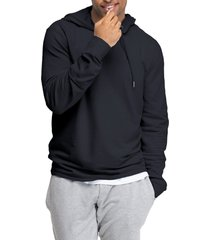 men's swet tailor stretch cotton hoodie, size x-large - blue