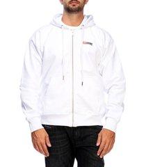 diesel sweatshirt diesel sweatshirt with hood and zip with maxi back logo print