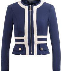 jacket with ivory inserts