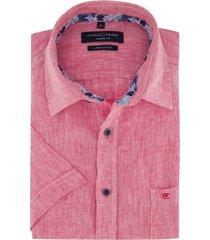 casa moda overhemd korte mouw linnen