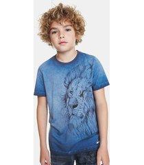 lion print t-shirt bolimania - blue - 13/14