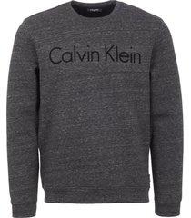 calvin klein grey kalma bonded mouliné logo sweatshirt k10k101419