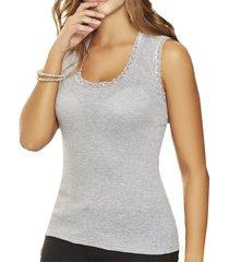 blusa hadid gris para mujer croydon