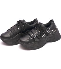 zapatilla negra valentia calzados brenda mely plataforma