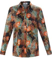 blouse met lange mouwen van anna aura oranje