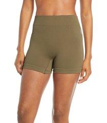 women's free people fp movement seamless shorts, size medium/large - green