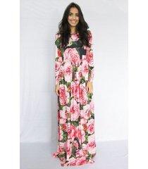 vestido fernanda almeida floral