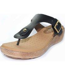 sandalia confort negro burana 965-026