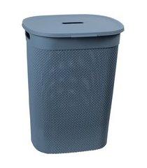 cesto de roupas roupeiro 55l plástico com tampa astra rb9 mediterrâneo