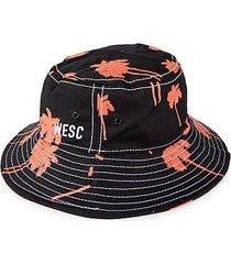 nature-print bucket hat