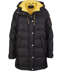 ermanno scervino black over down jacket with contrast lining