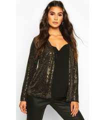 maternity stretch sequin jacket, gold