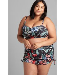 lane bryant women's adjustable swim skirt 30 island blooms