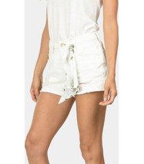 shorts miami com lenço branco off white - lez a lez