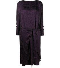 a.n.g.e.l.o. vintage cult 1990s tie waist dress - purple