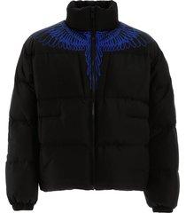 wings print puffer jacket