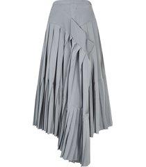 rochas asymmetric pleated skirt