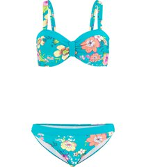 bikini a balconcino con ferretto (set 2 pezzi) (blu) - bpc bonprix collection