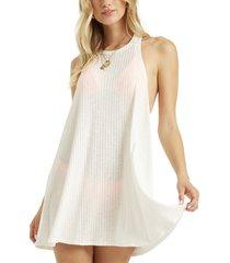 women's billabong sandy sea cover-up tank dress, size x-large - white