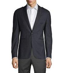 classic shawl collar epaulette jacket