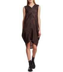 rick owens women's release shift dress - bronze - size 38 (2)
