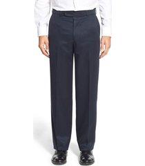 men's ballin classic fit flat front dress pants, size 42 - blue