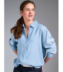 lange blouse lange mouwen van brax feel good blauw