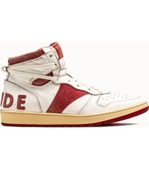 rhude sneakers alta bianca