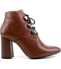 ankle boot santa moça c36 couro feminino