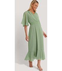 trendyol chiffongklänning - green