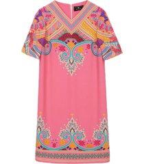 etro naïf paisley print tunic dress