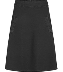 light black denim stelly knälång kjol svart mads nørgaard