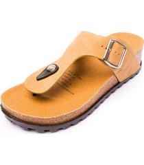sandalia razo beige chancleta